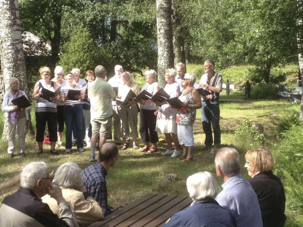 Konsert med Gävlekören vid Silfhytteå