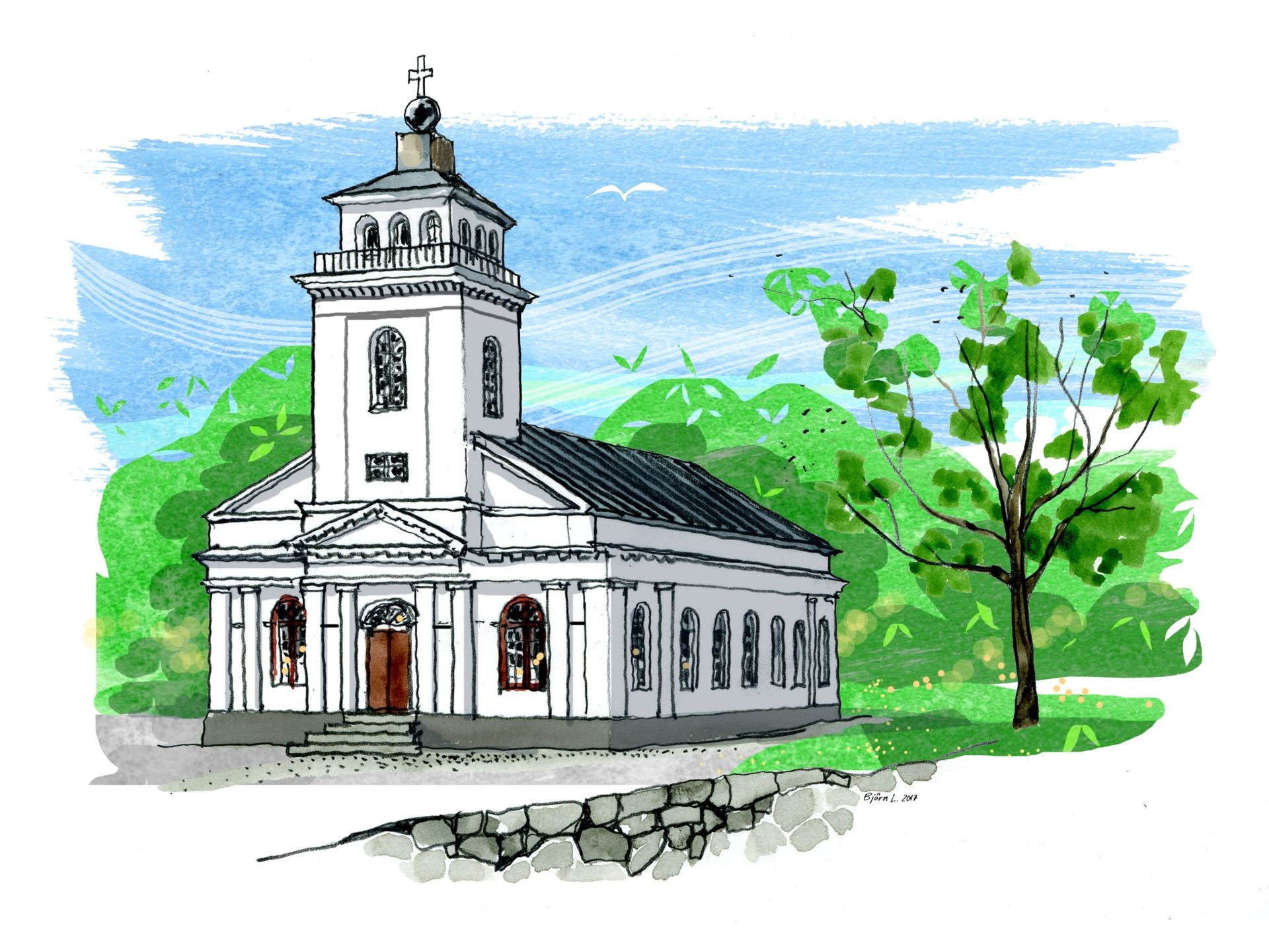 Musik i sommarkväll med Anna Widing Tor & Lennart Simonsson, Forsmarks kyrka