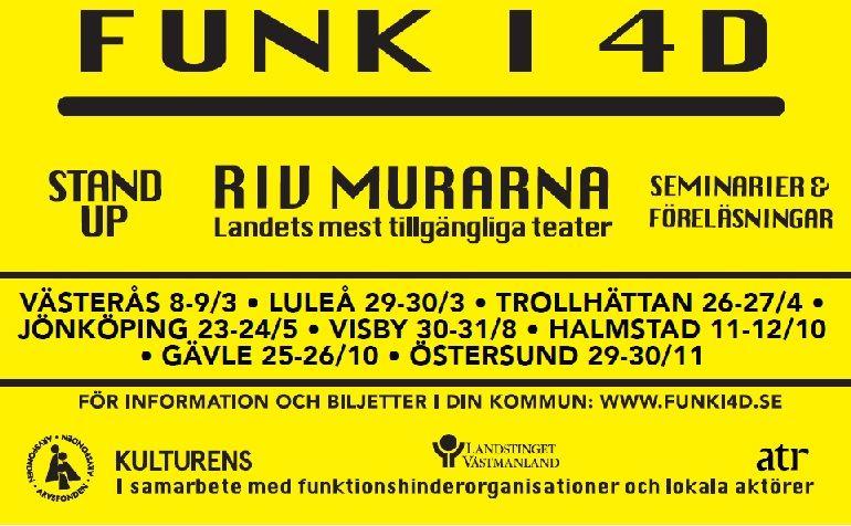 FUNK-UP-COMEDY en del av FUNK I 4D.