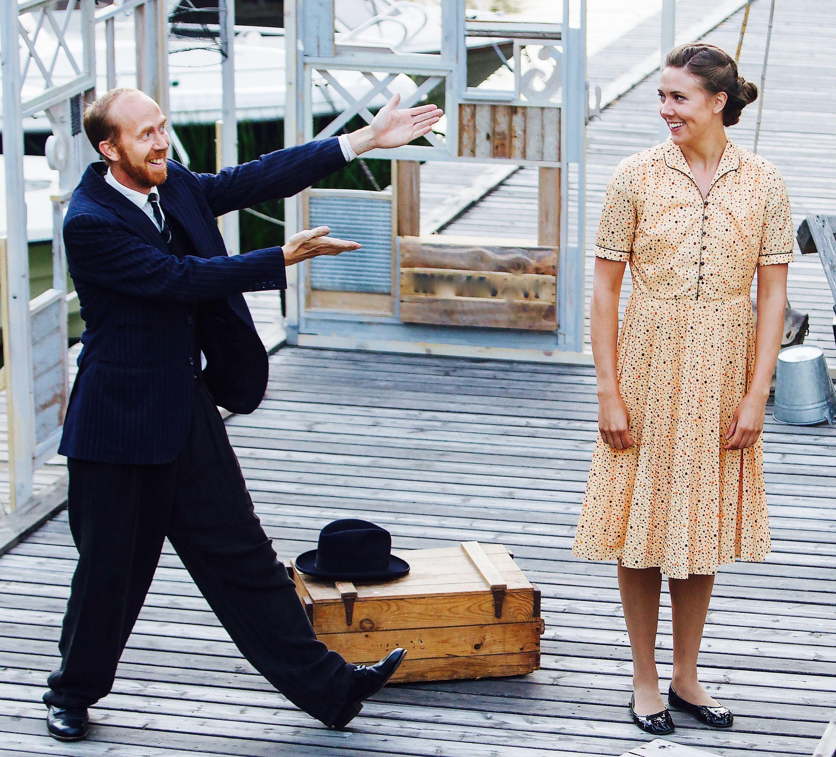 Torsdagsteater i det fria, dramakomedin Talley´s Folly av Lanford Wilson.