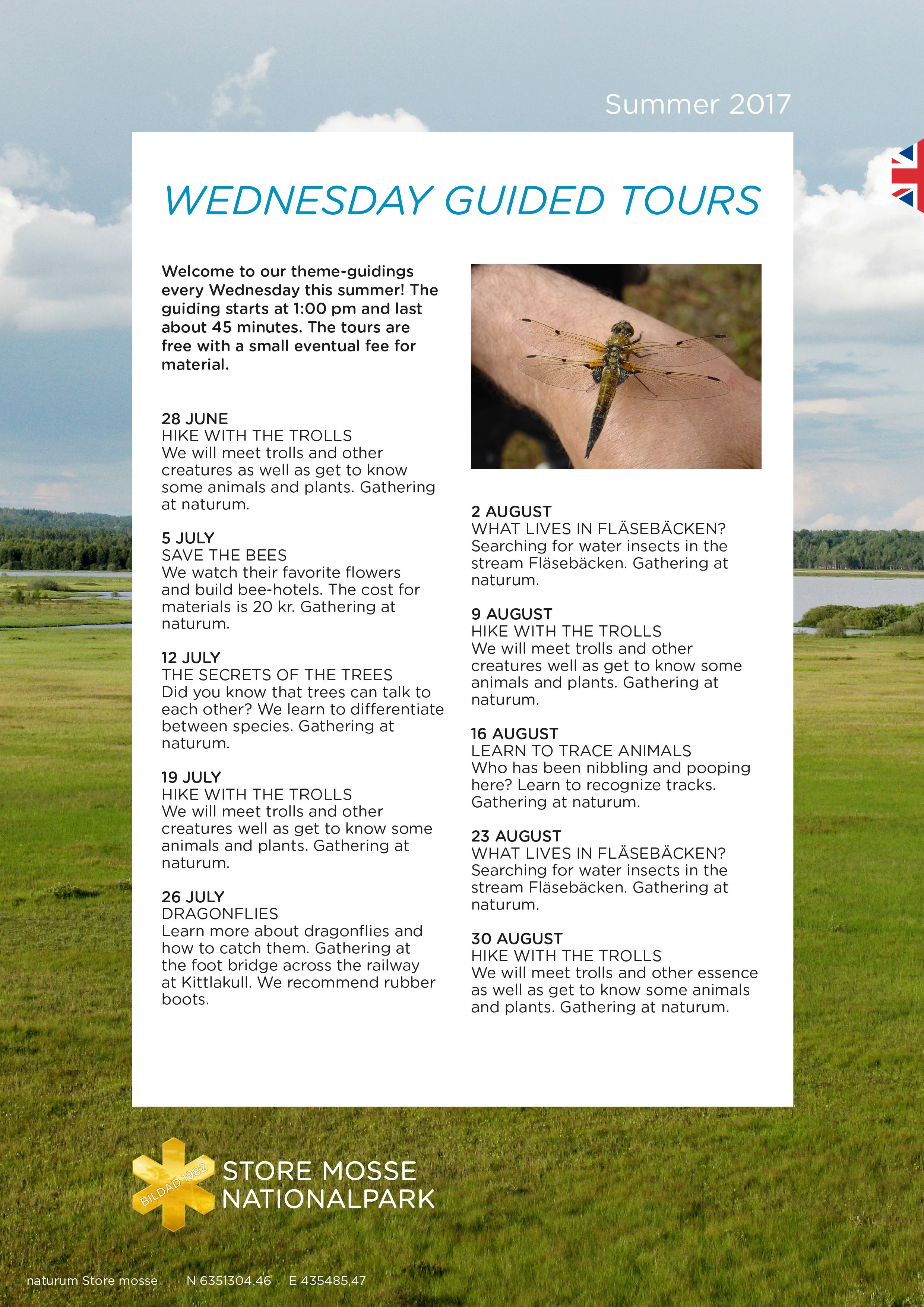 Wednesyday Guided Tours at Store Mosse
