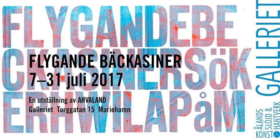 """Art exhibition: """"Flygande Bäckasiner"""" 7-31 July in Galleria"""
