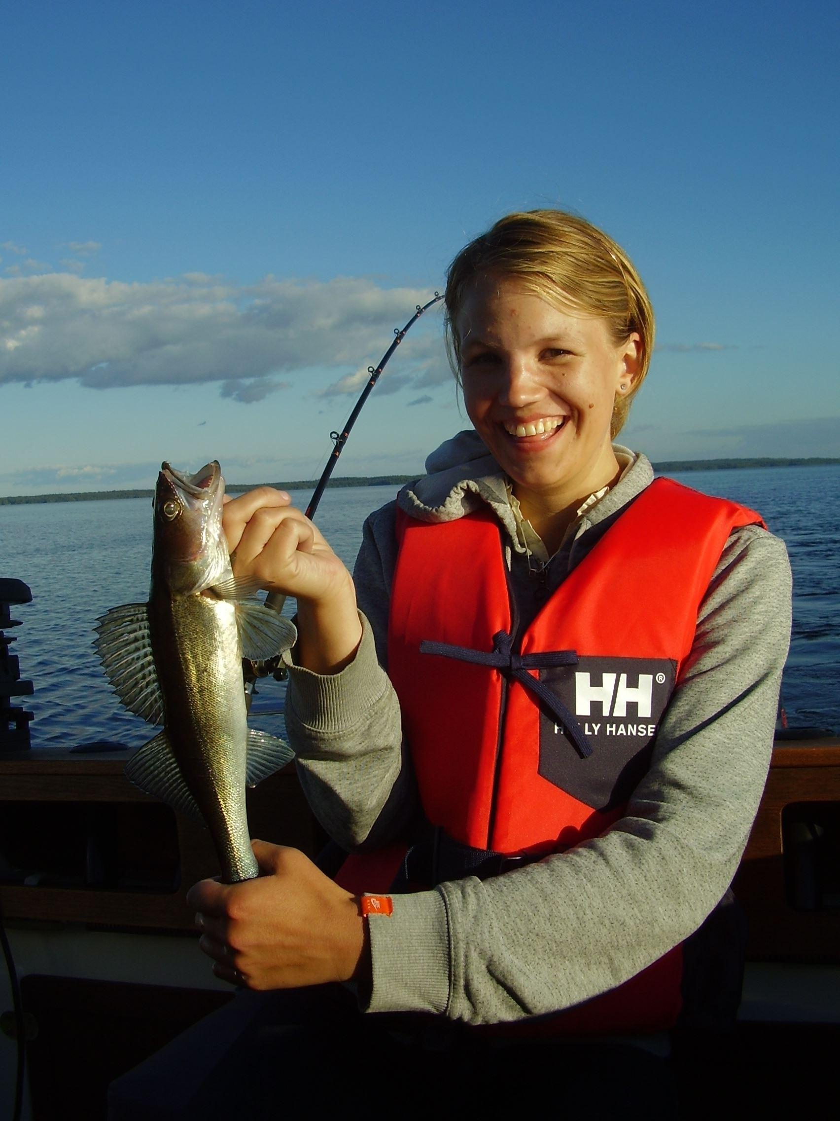 Fiske i Lagan-Skålån