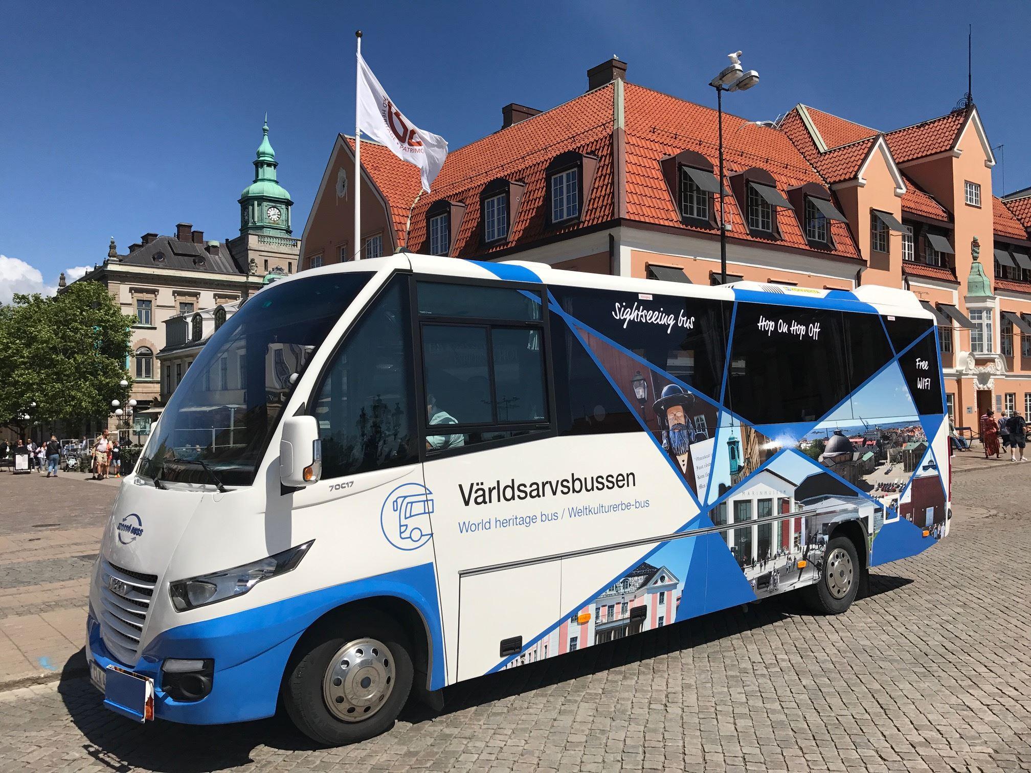 Sightseeingbuss - världsarvsbussen