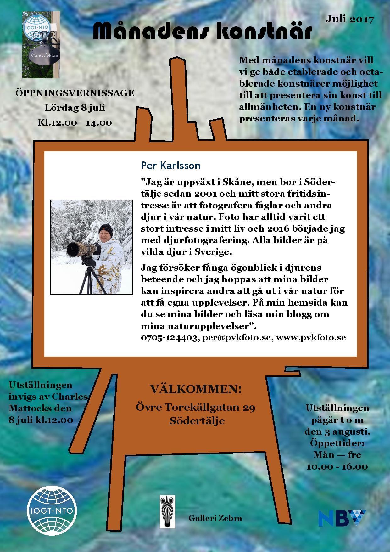 Månadens konstnär Per Karlsson