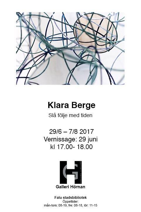 Utställning Klara Berge Slå följe med tiden