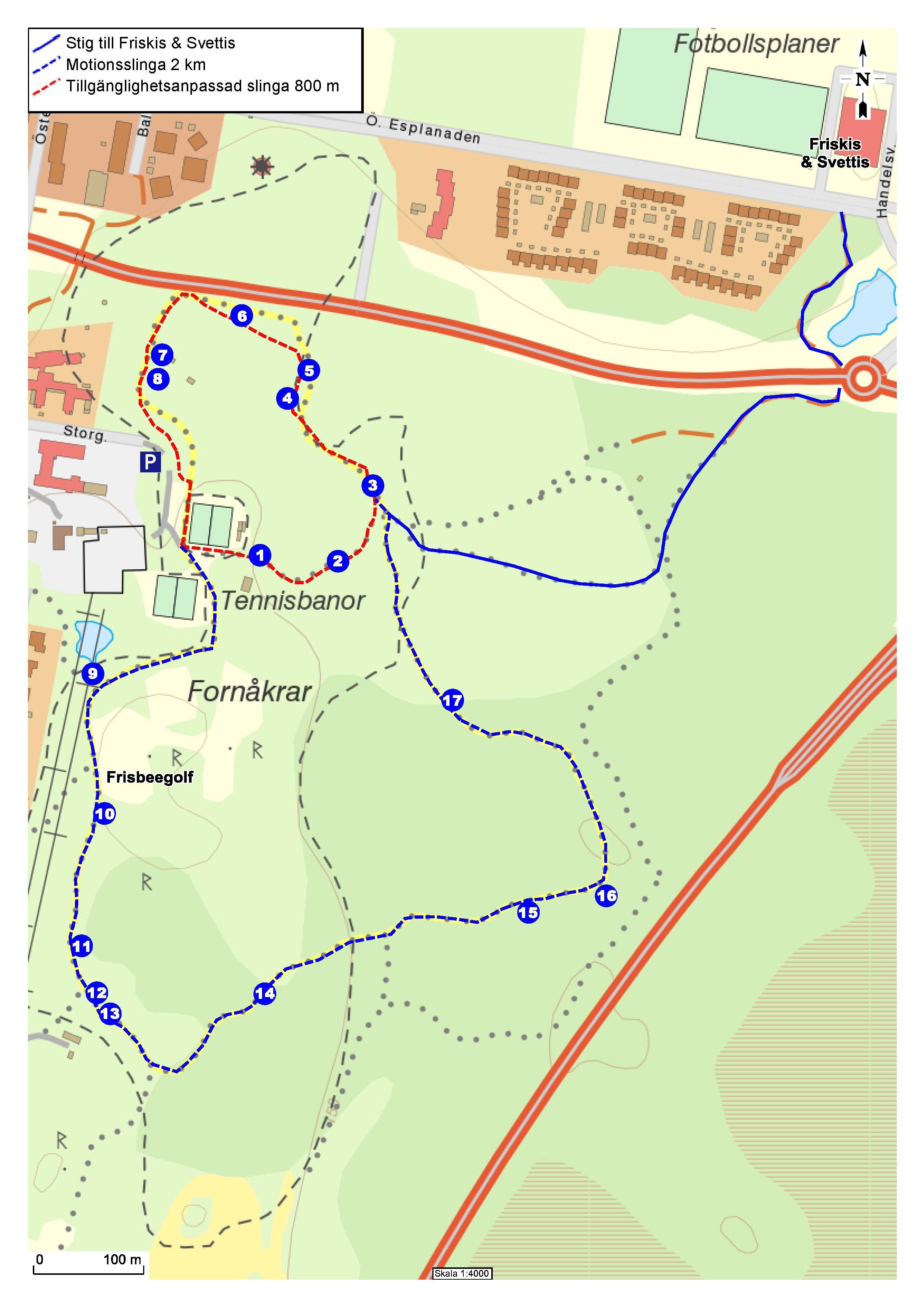 Walking trail - Haganäs park