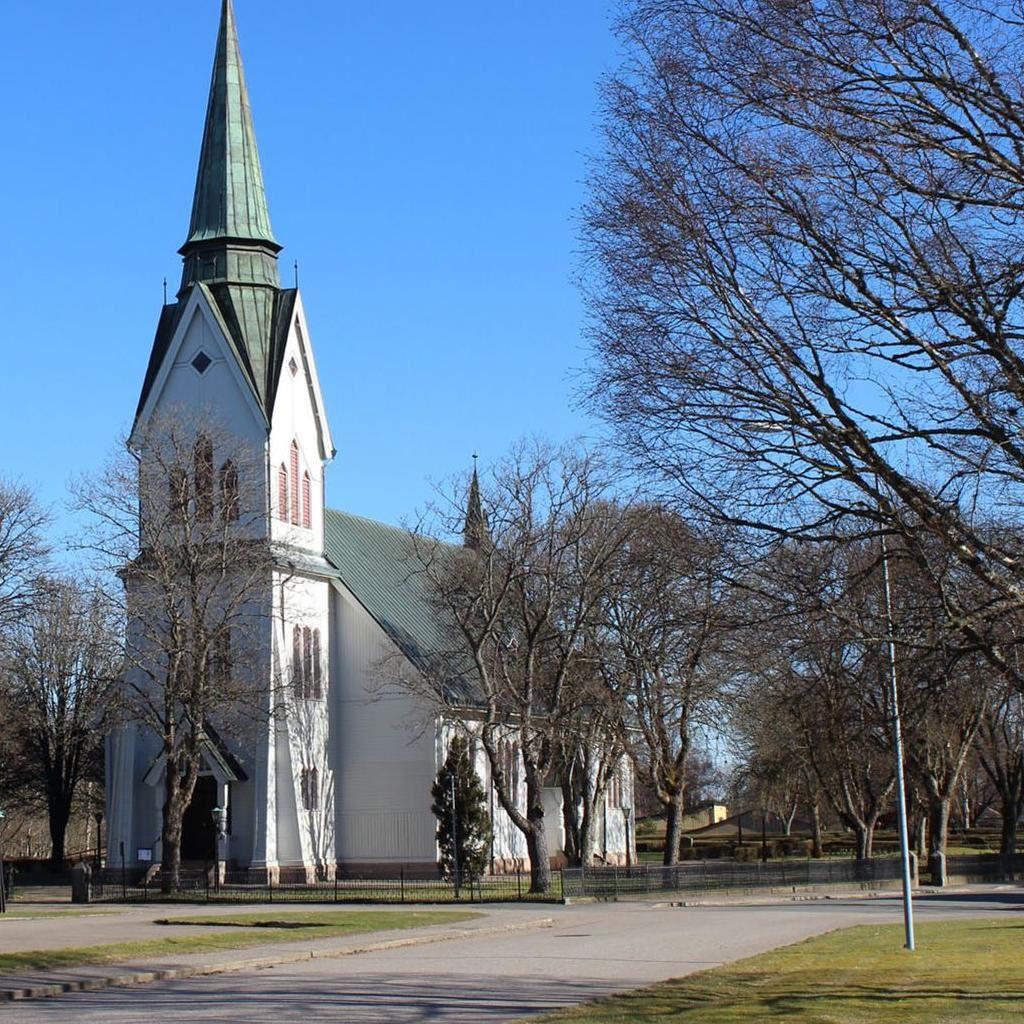 Gudstjänst med sång i Stockaryds kyrka.