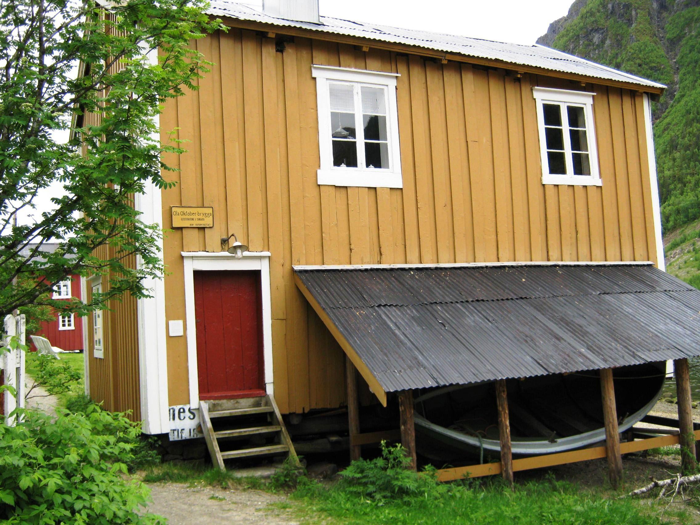 The historic Guesthouses in Sjøgata, Mosjøen