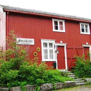The historic Guesthouses in Sjøgata, Mosjøen