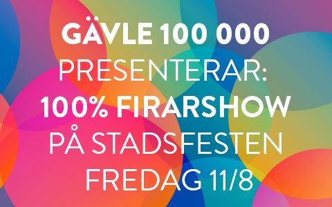 100% Firarshow på Stadsfesten