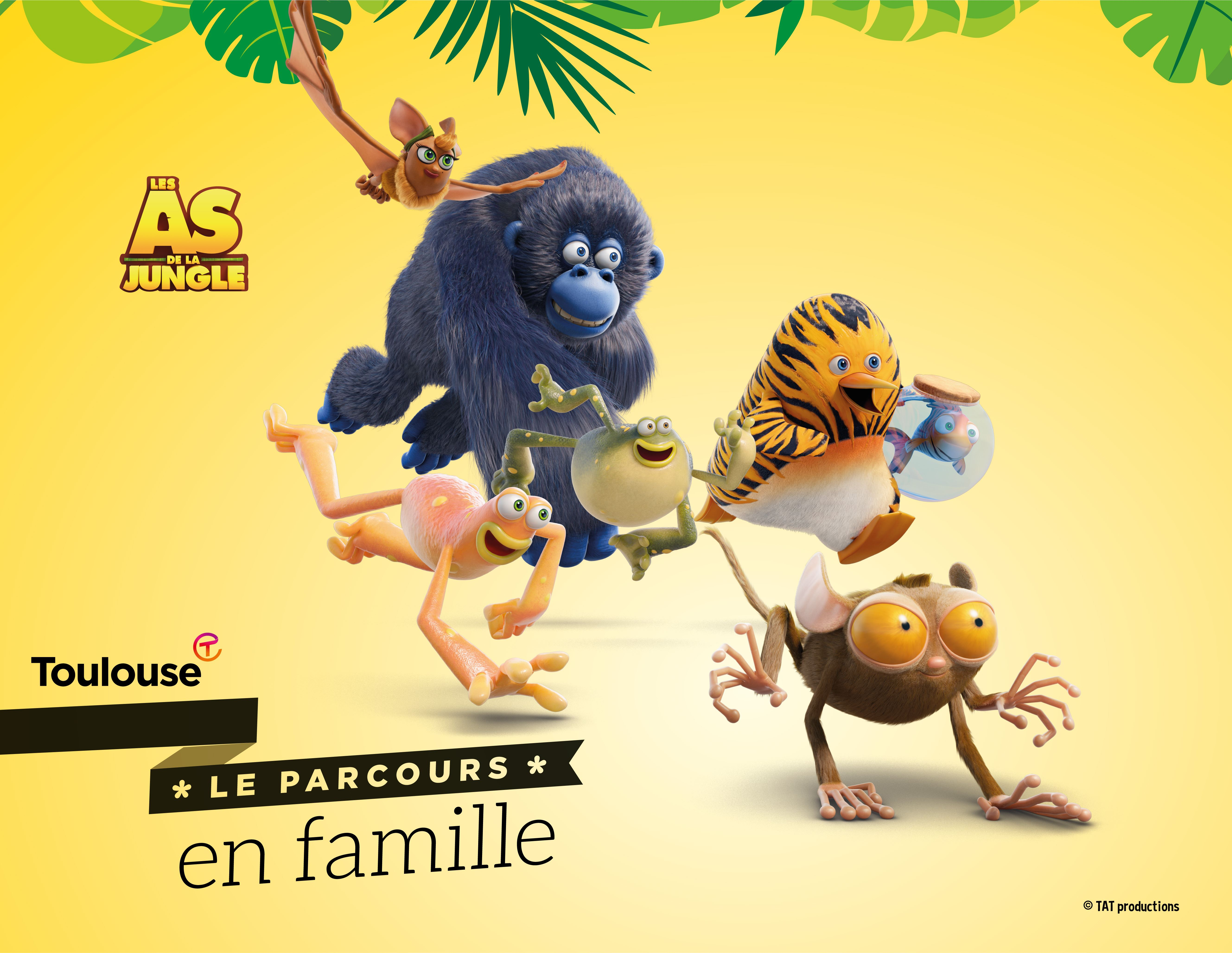 Toulouse en famille avec LES AS DE LA JUNGLE