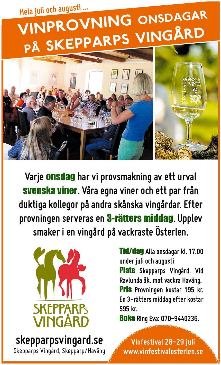 Skepparps Vingård - Prova svenska viner
