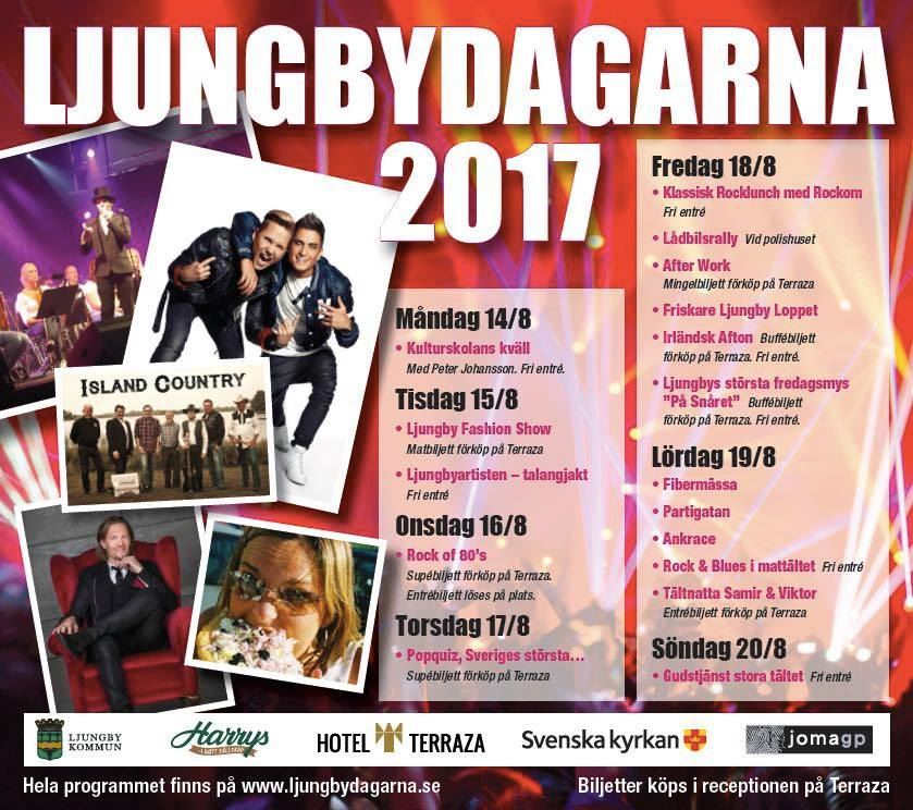 Ljungby Town festival 15th-21st of august - Monday