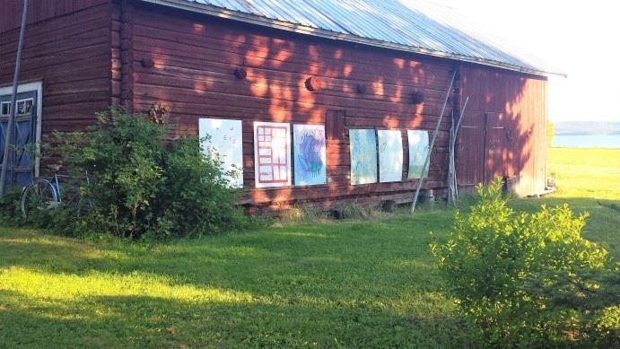 LandArt/Konstobjekt-utställning vid Locknesjön