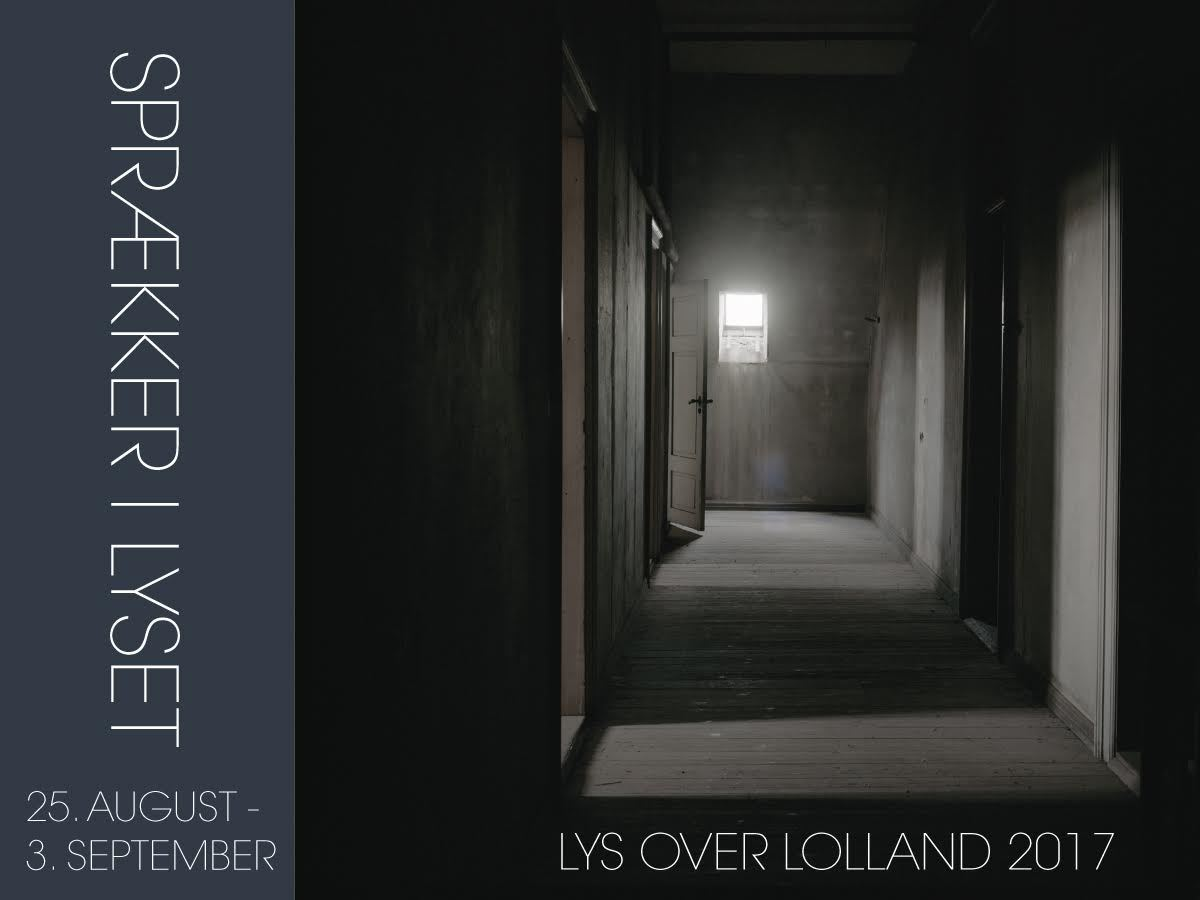 Entrebillet til Lys over Lollands kunstudstilling