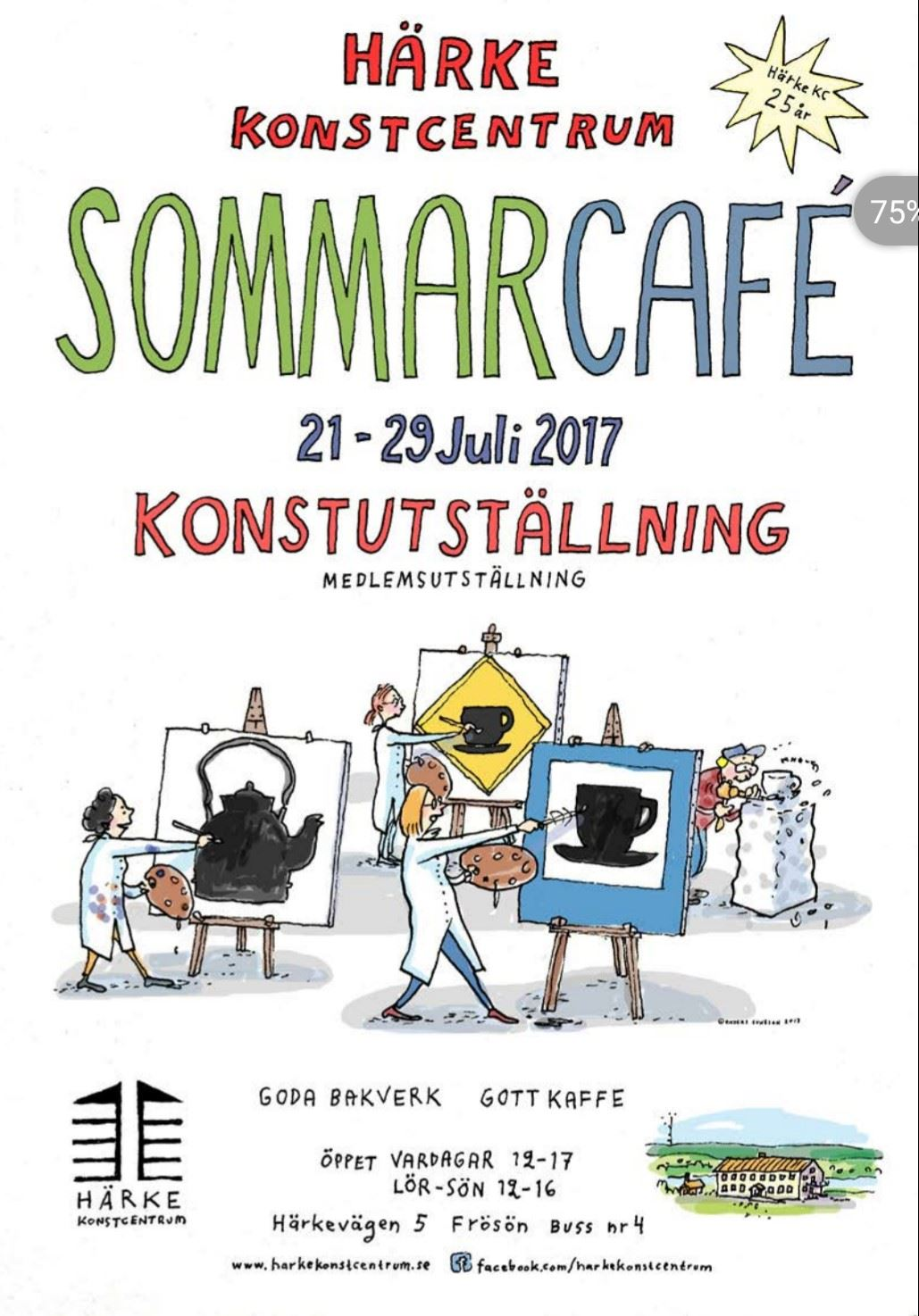 Summer café and art exhibition