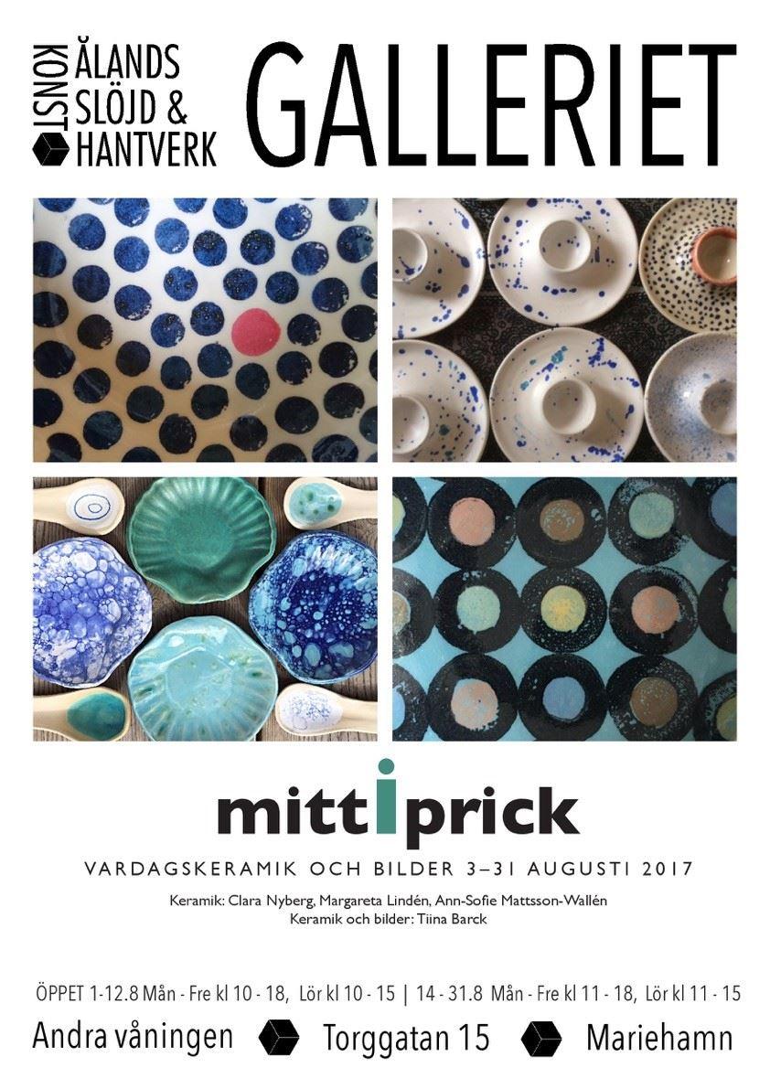 """Utställning: """"Mitt i prick"""". Vardagskeramik och bilder i Galleriet"""