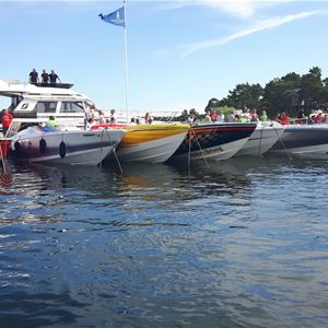 Poker Run in the eastern harbor of Mariehamn