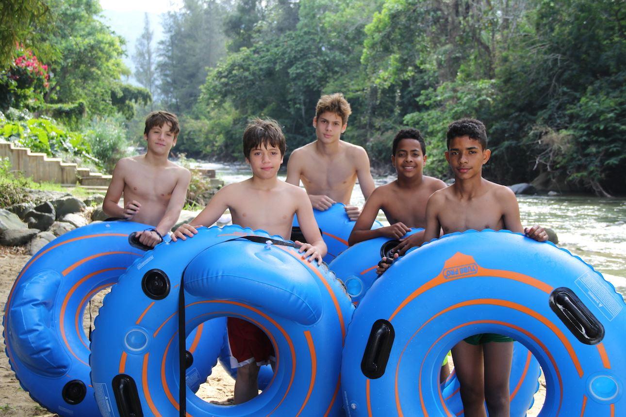 Tubbing in Yaque del Norte River