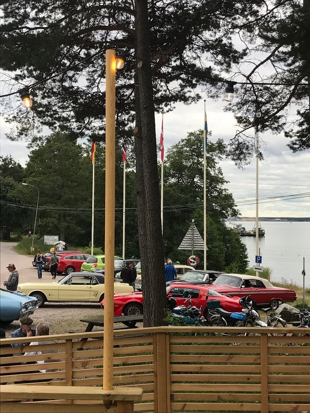 Motorträff på Gävle camping