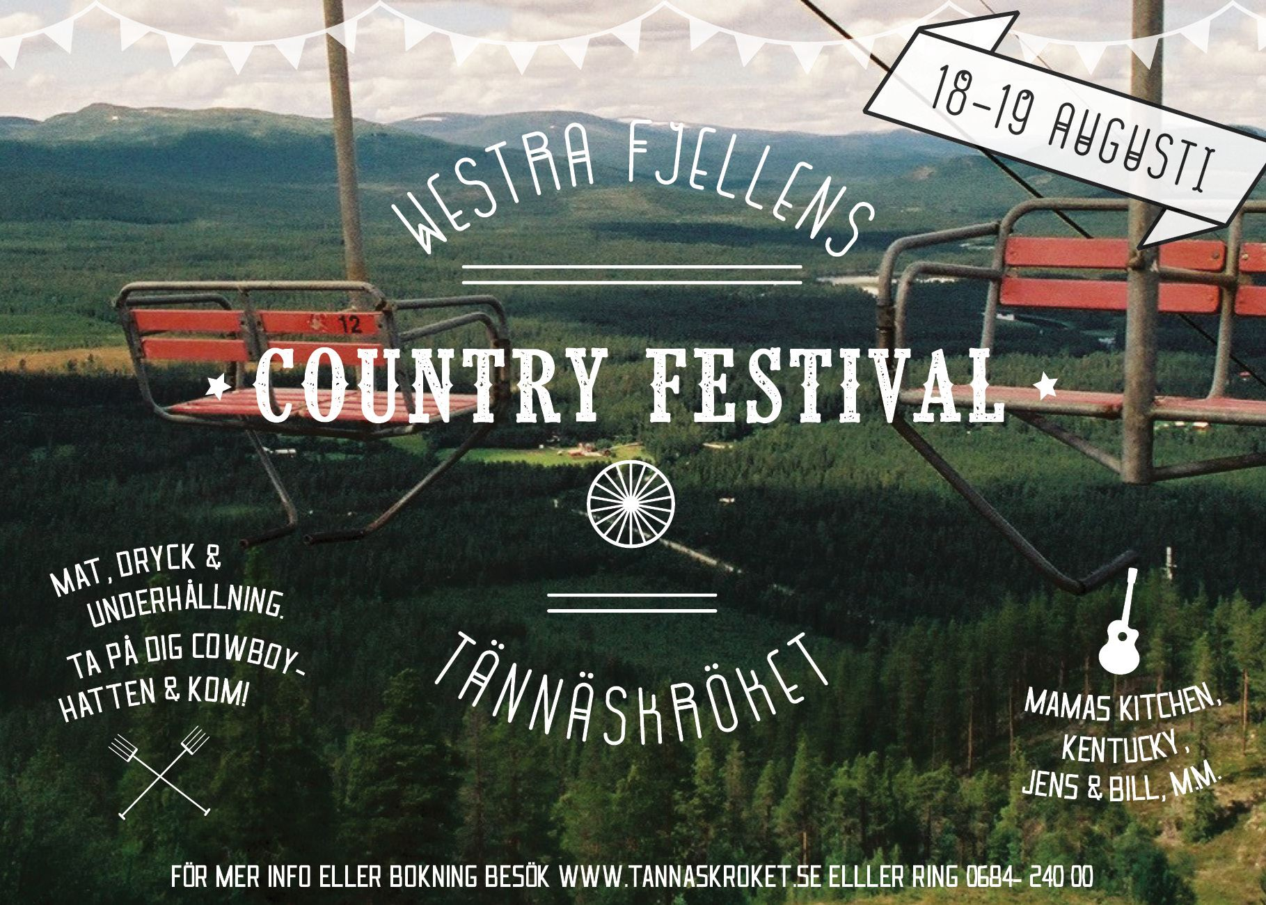 Tännäs Countryfestival 18-19 augusti