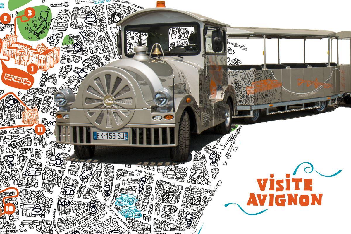 Visite Avignon - Petit train touristique d'Avignon