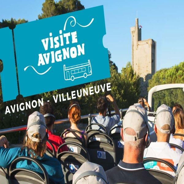 Visite Avignon: Bus touristique/Open Tours et /ou Petit Train Touristique