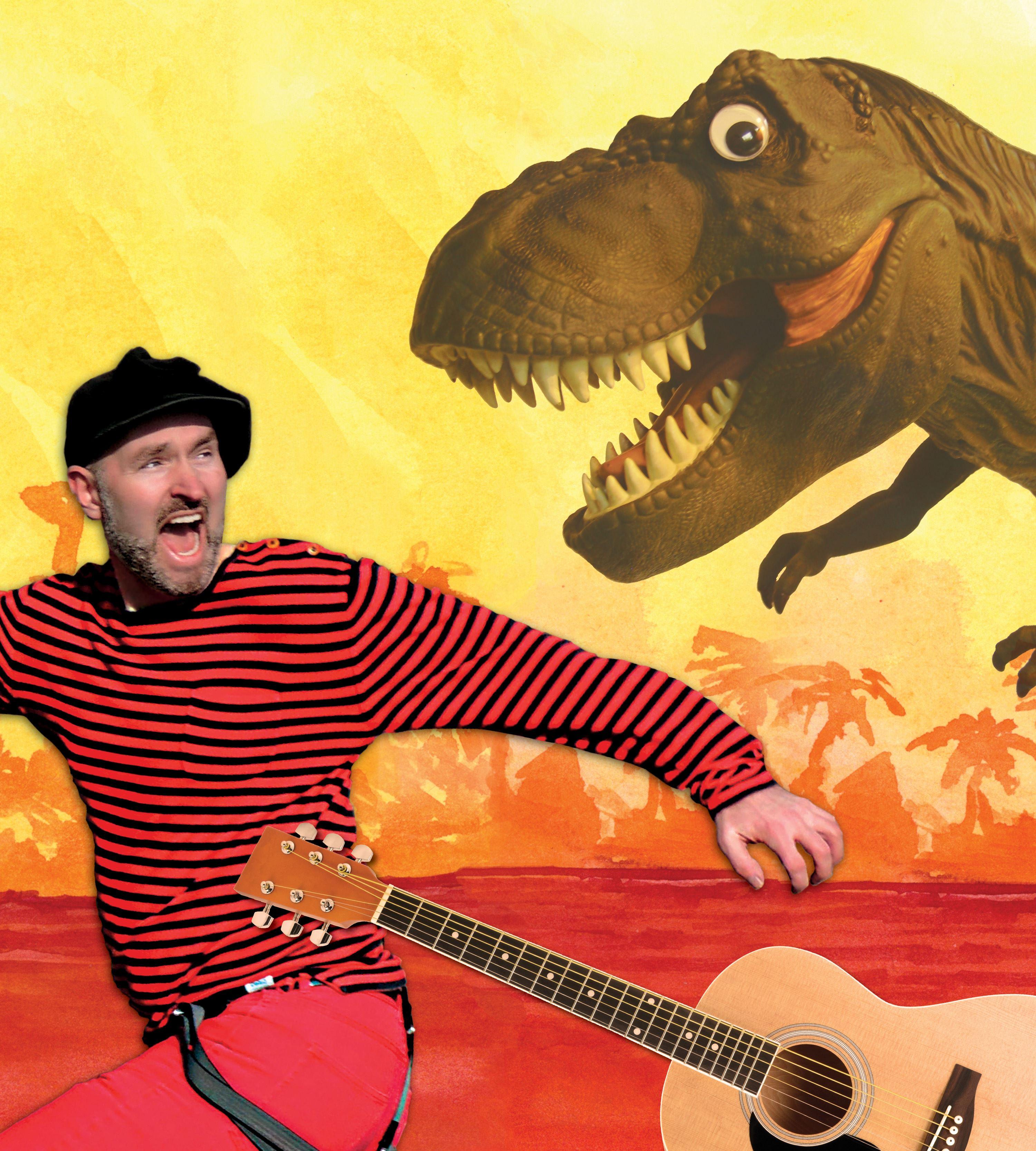 Jagad av en T-rex - Ett fartfyllt musikäventyr i dinosauriernas värld