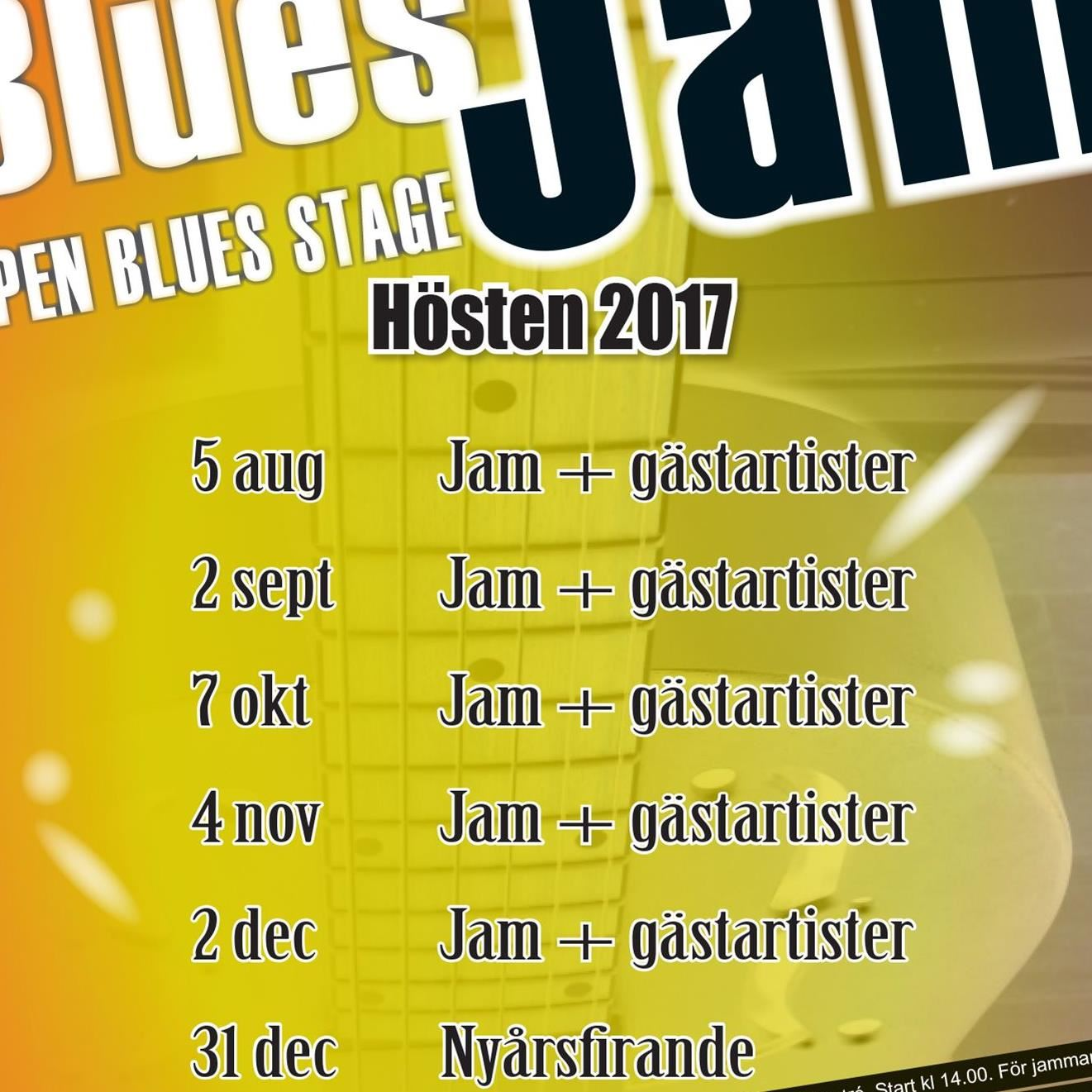 Hedemora Blues Jam – Open Blues Stage och gästartister