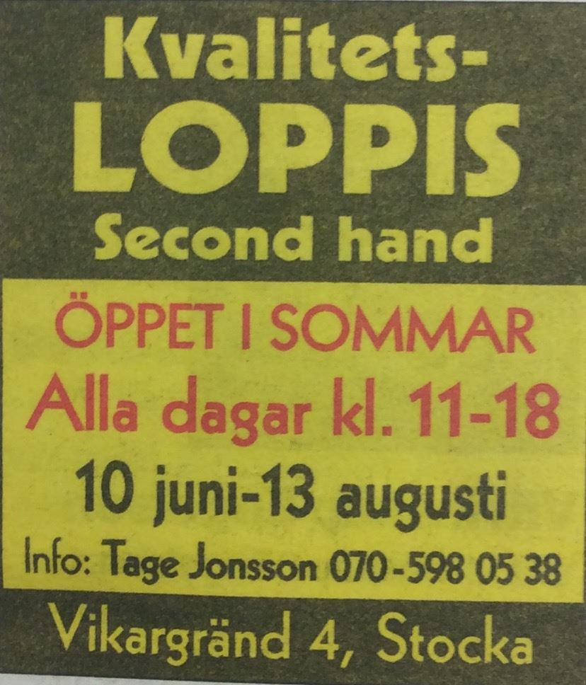 © Stocka kvalitets-loppis, Stocka kvalitets-loppis