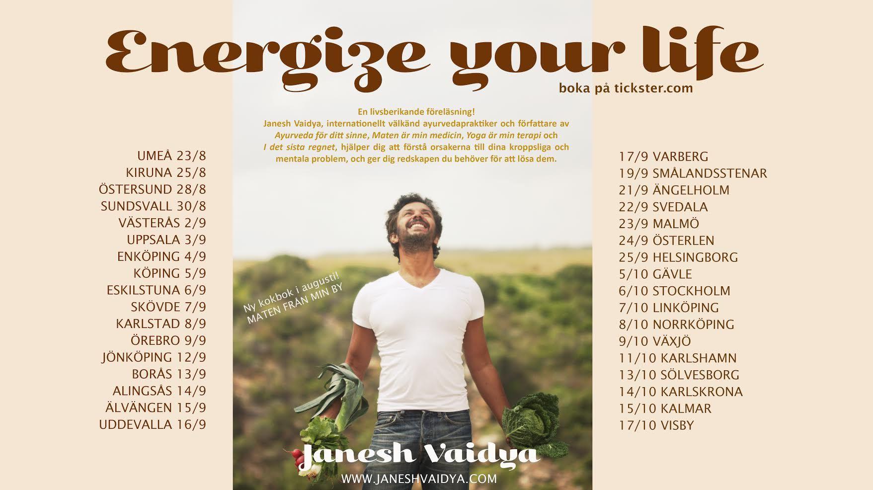 """Energize your Life"" med Janesh Vaidya"