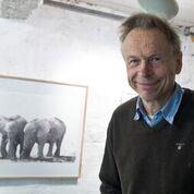 Arne Forsell, Cafékväll med akvarellkonstnären Hasse Karlsson