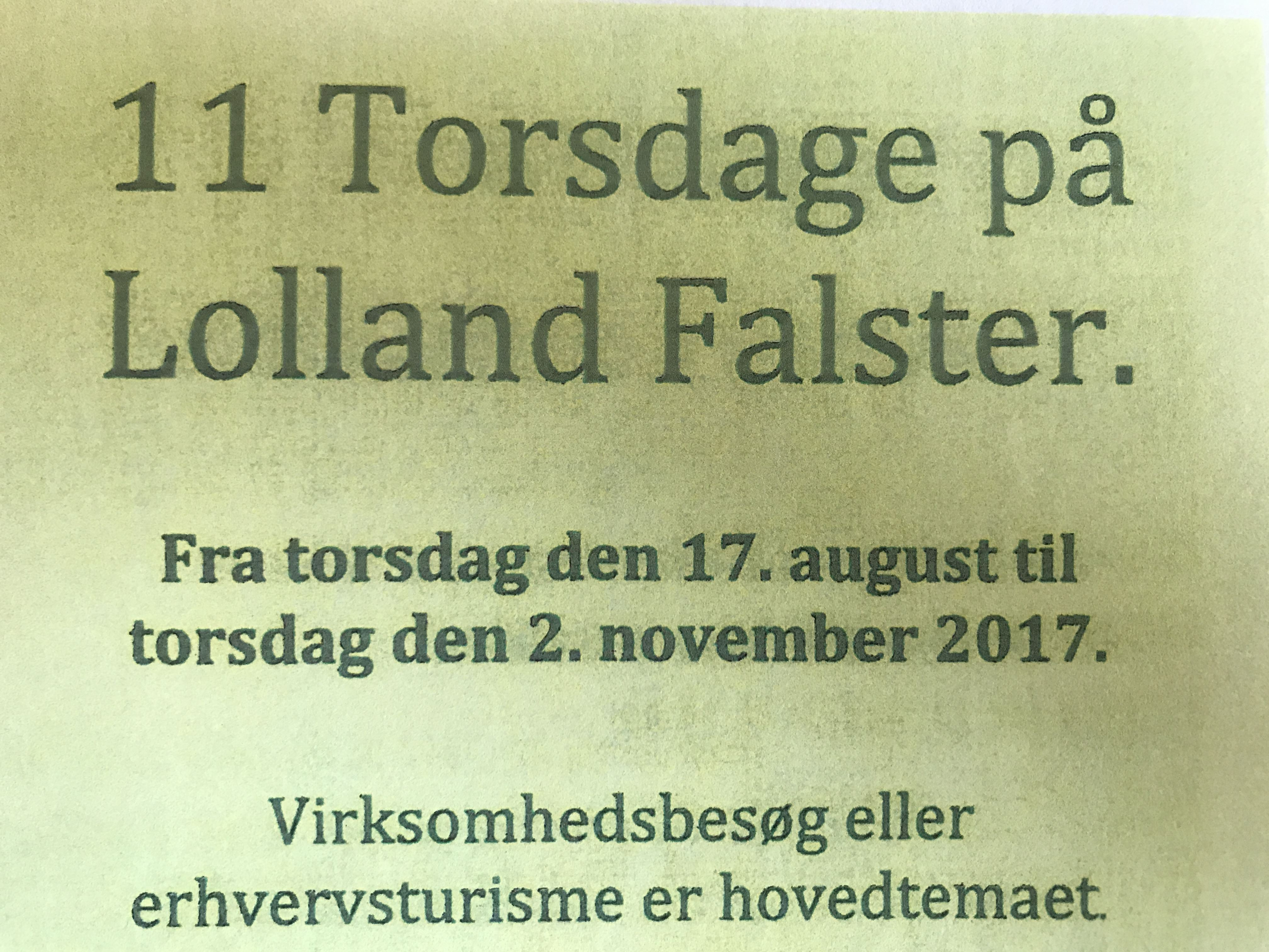 11 torsdage på Lolland Falster - Nakskov Mill Food