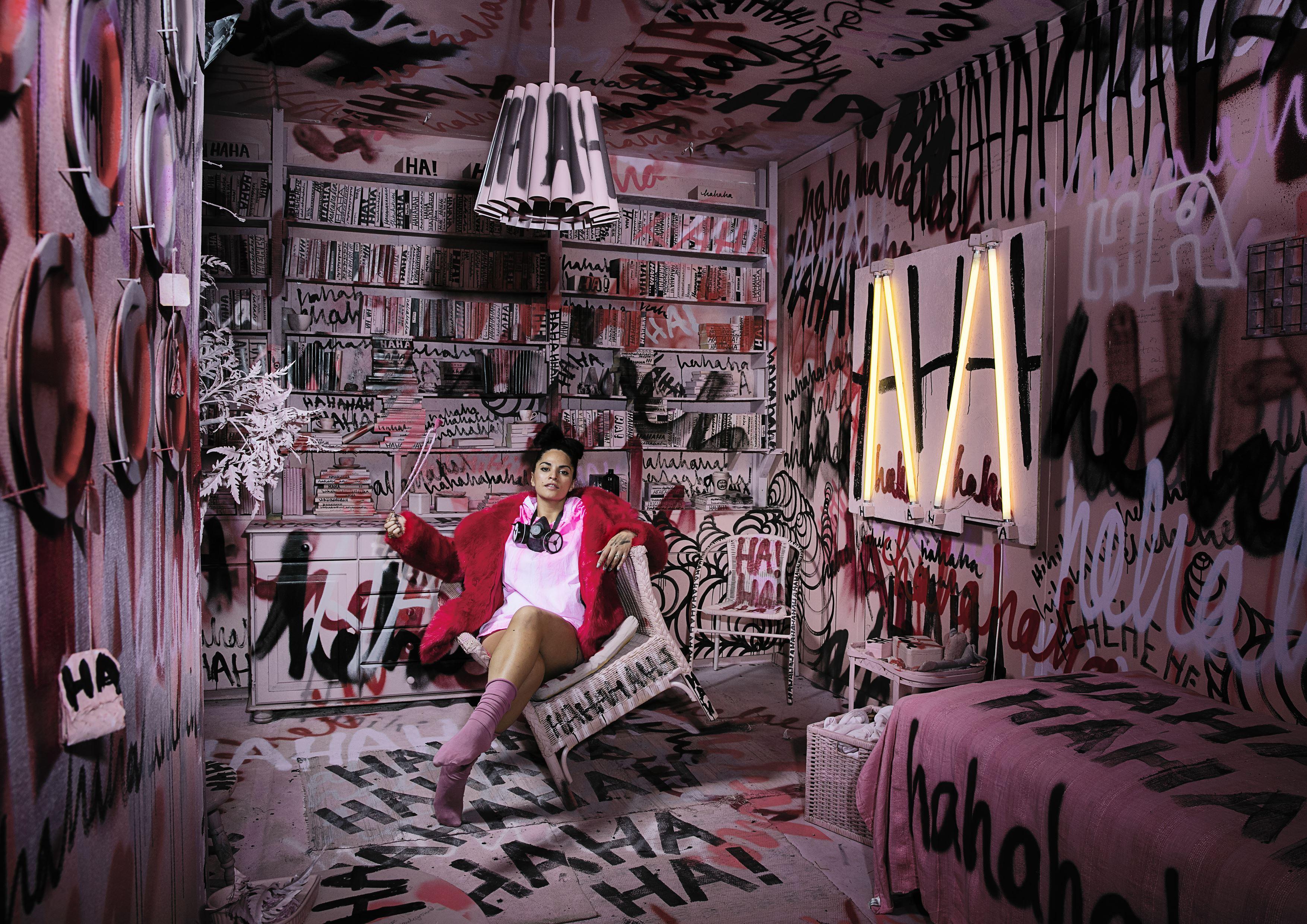 Grafftitmålning med Shora live