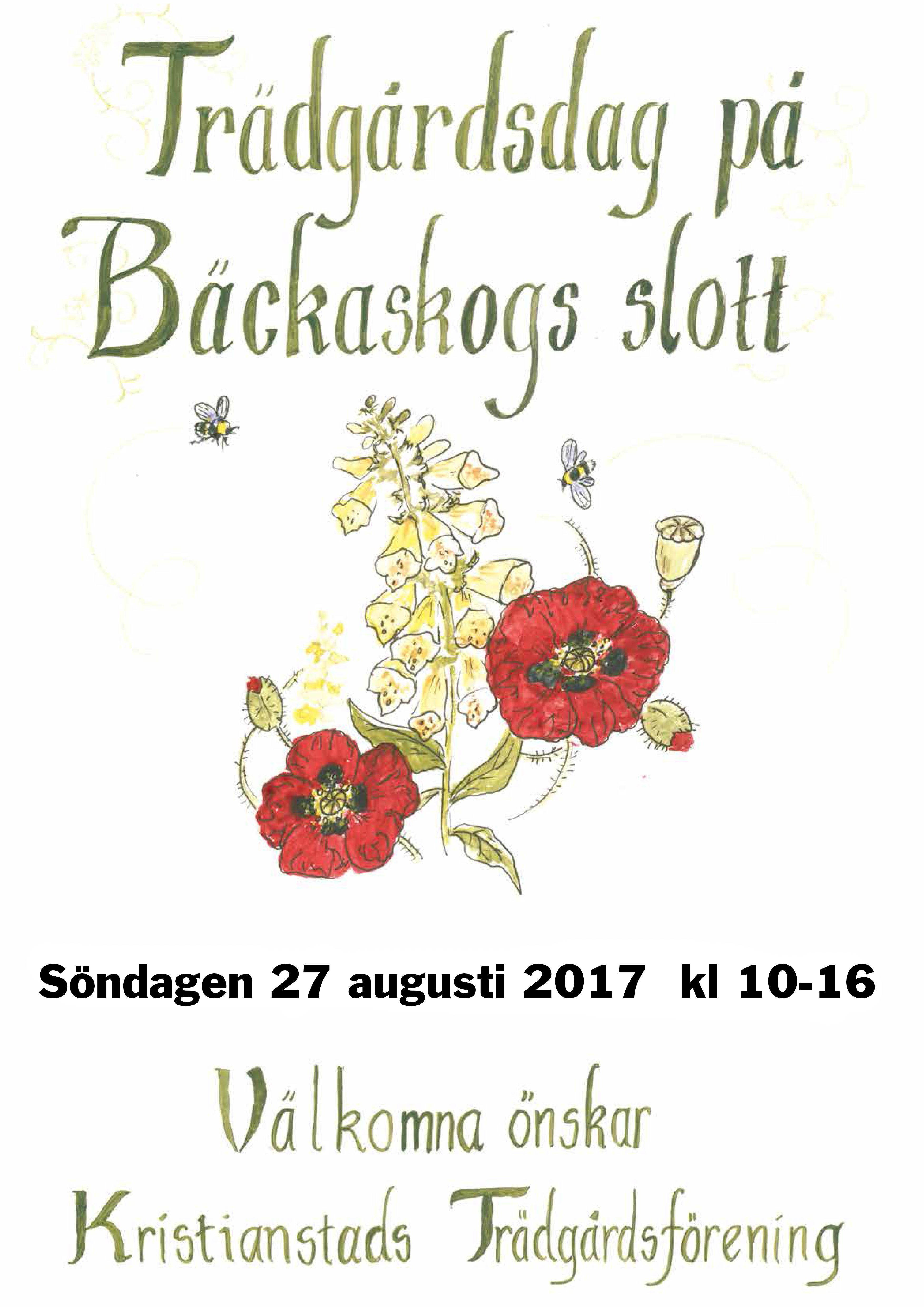 Trädgårdsdag på Bäckaskog slott