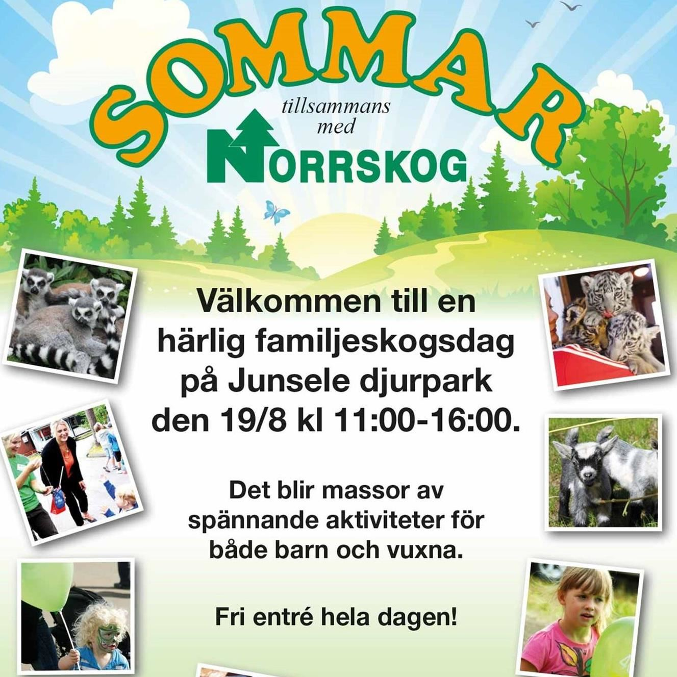 Familjeskogsdag på Junsele Djurpark