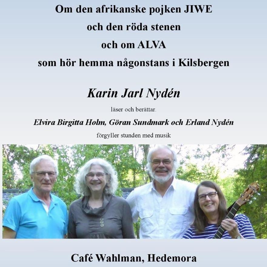 Författaren Karin Jarl Nydén berättar till musik