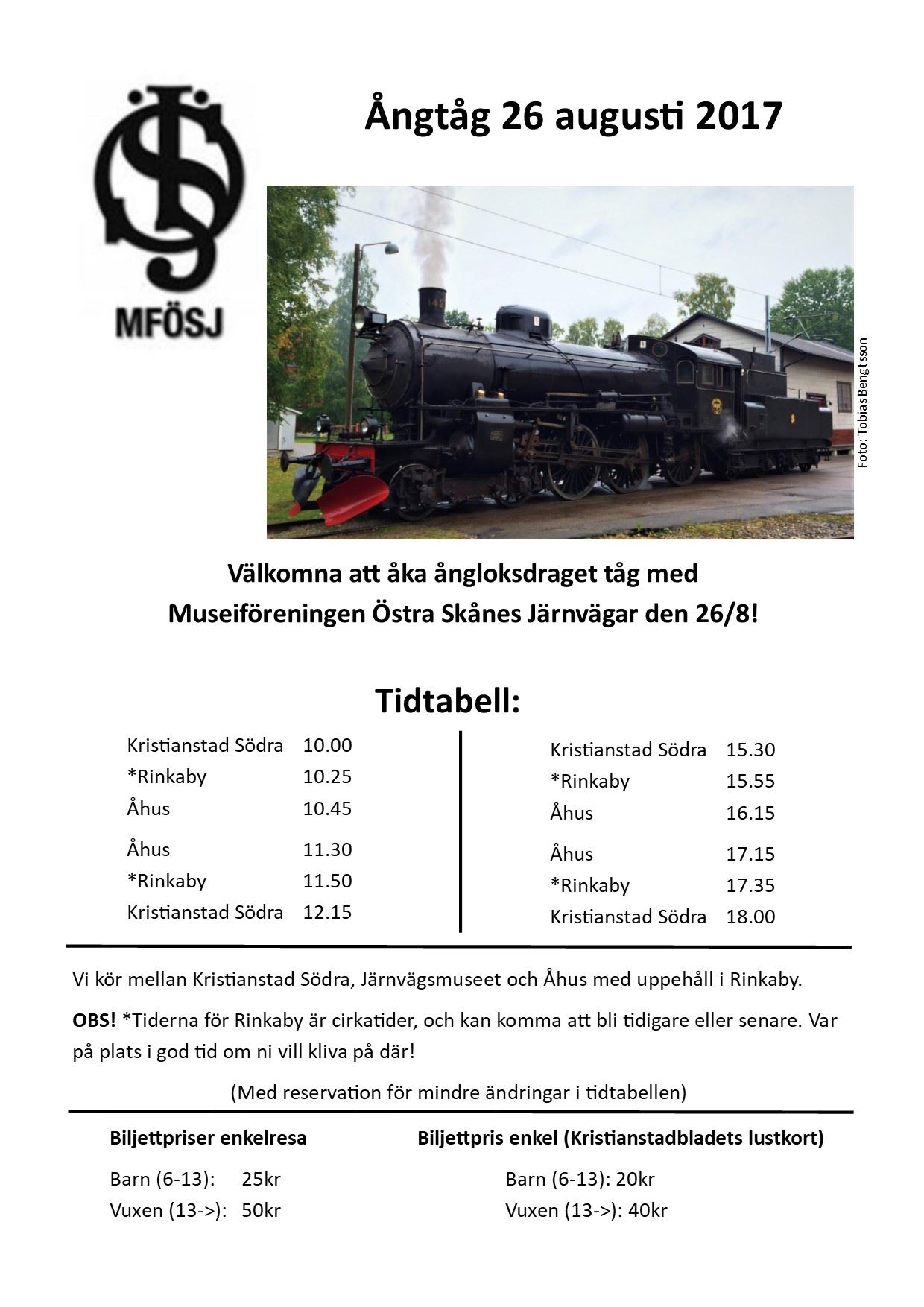 Tåg till Åhus