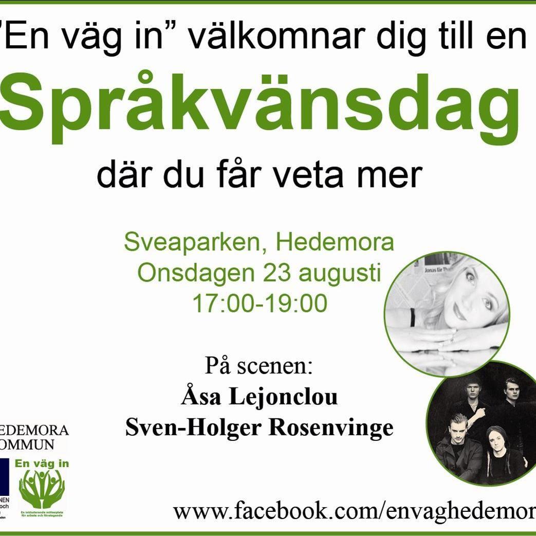 Språkvänsdag i Sveaparken