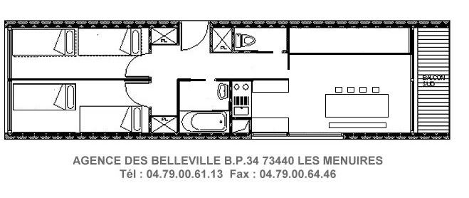 3 Rooms 6 Pers ski-in ski-out / PELVOUX 21