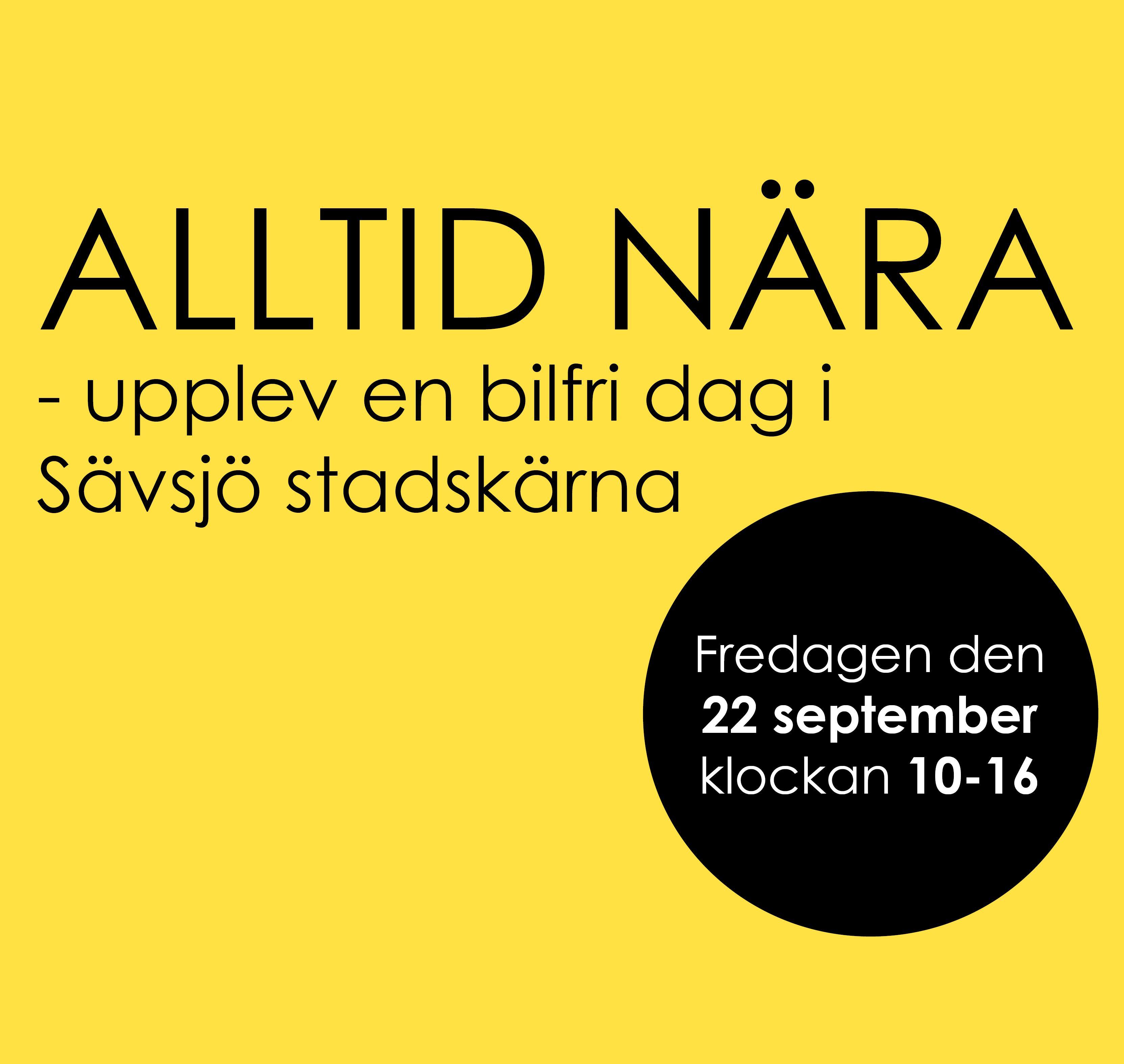 Upplev en bilfri dag i Sävsjö Stadskärna