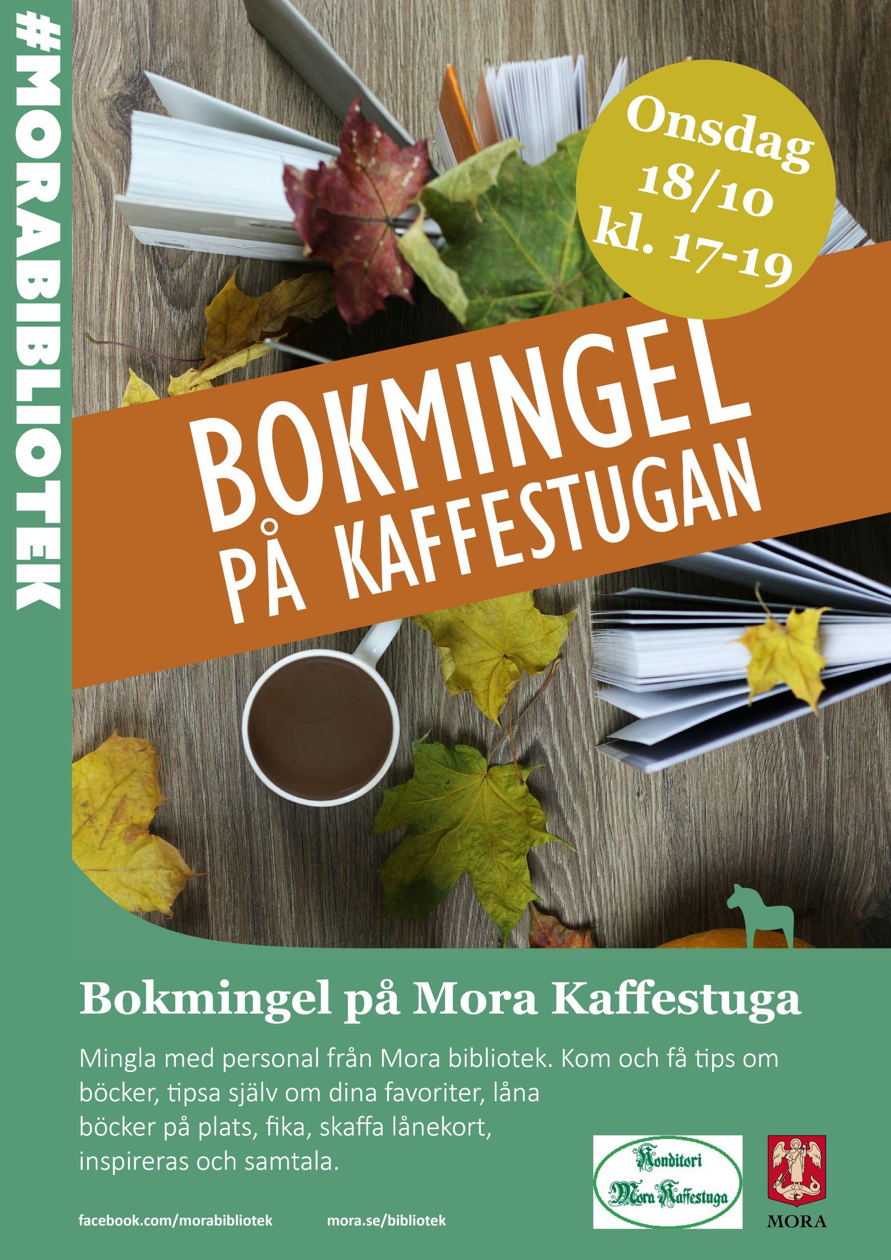 Bokmingel på Mora Kaffestuga