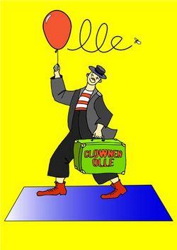 Clownen Olle besöker biblioteket i Lit