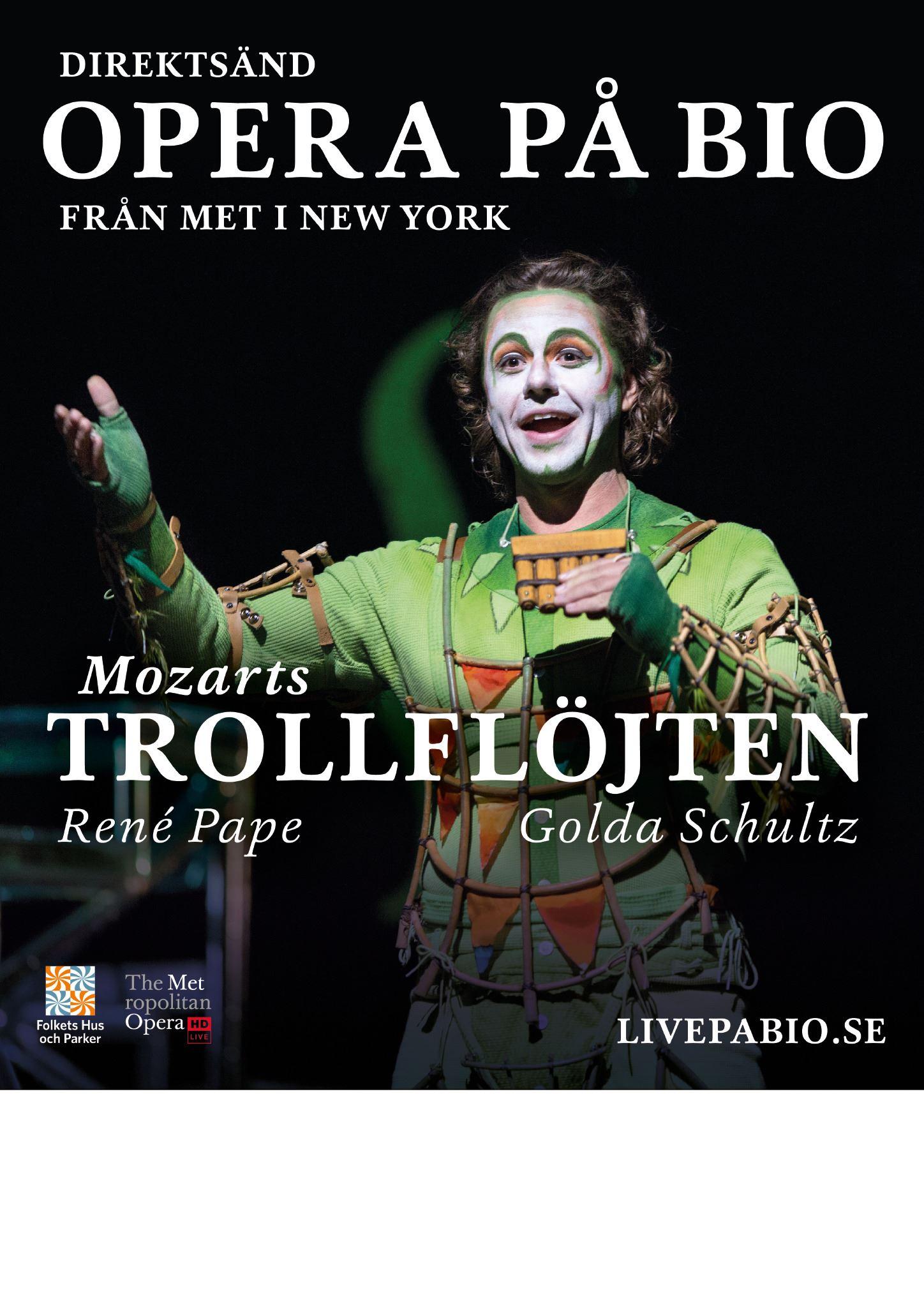 Livesänd Opera  - Trollflöjten