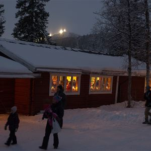 Advent fair at the barn Udden in Tärnaby