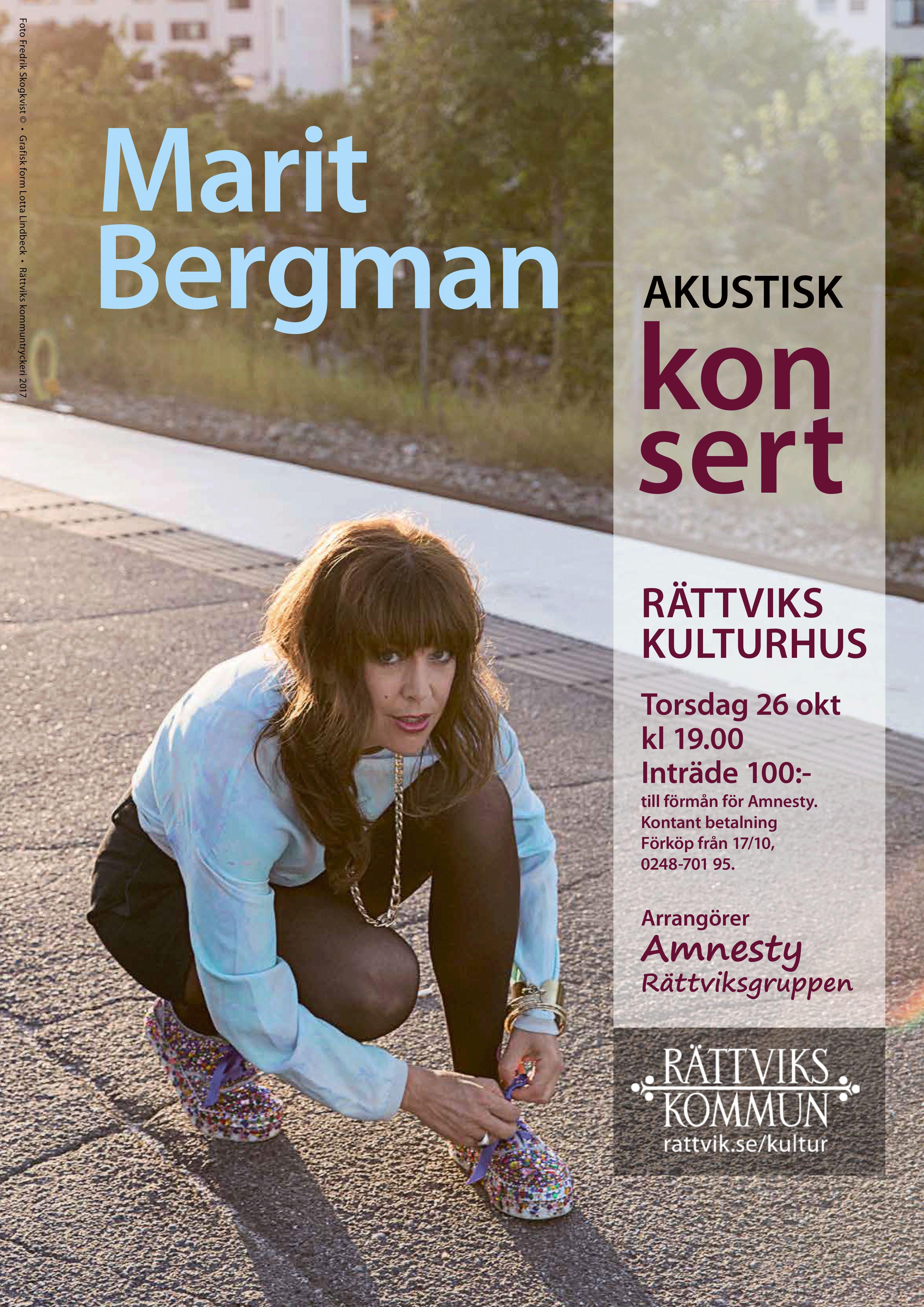 Akustisk konsert med Marit Bergman