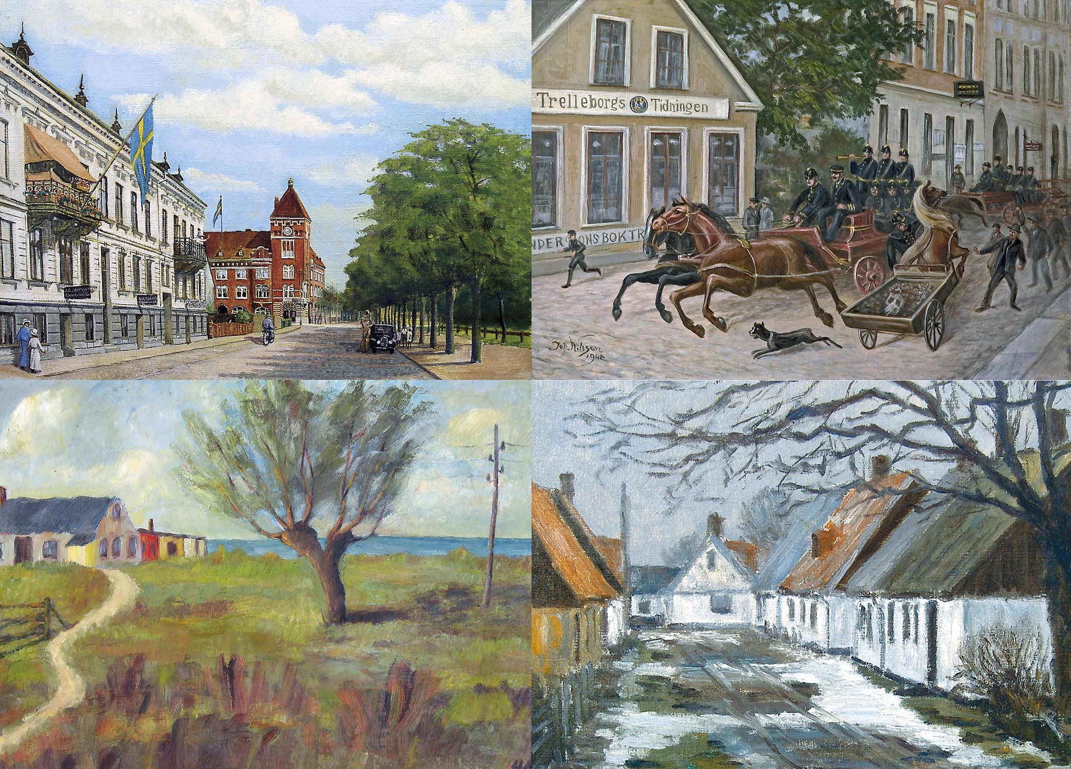Trelleborgs museum,  © Trelleborgs museum,  Exhibition - Trelleborg through artist's eyes ...