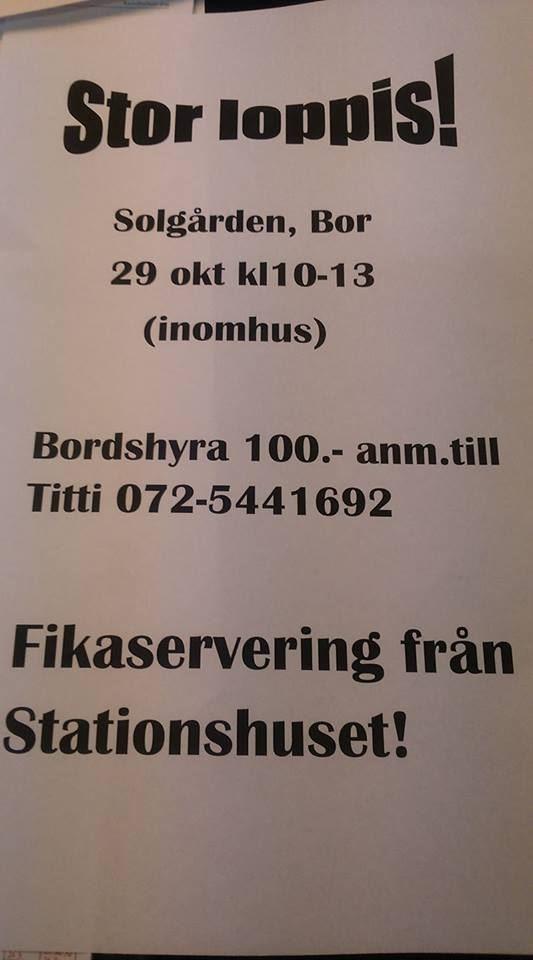 Loppis i Solgården i Bor