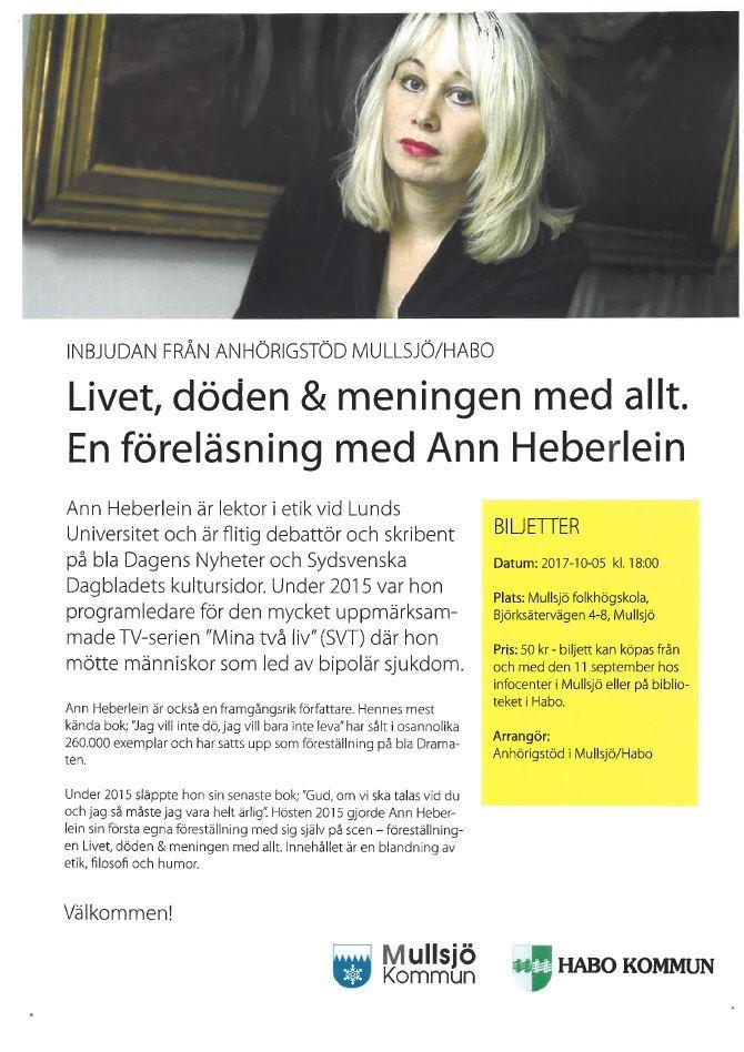 Föreläsning med författaren Ann Heberlein